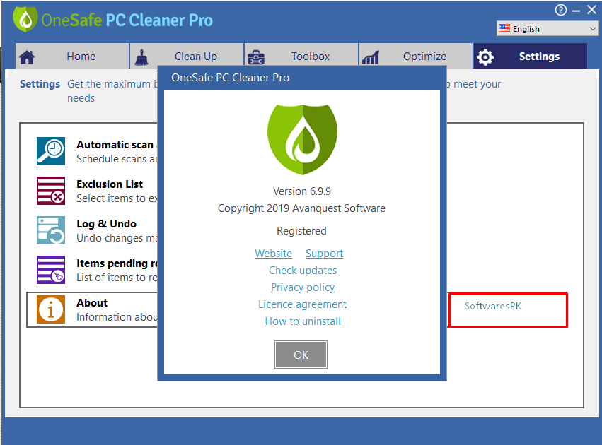 OneSafe PC Cleaner Pro 7.0.3 Crack