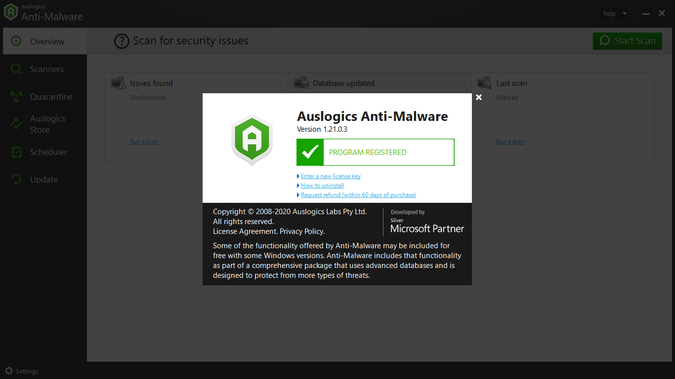 Auslogics Anti-Malware Premium License Key