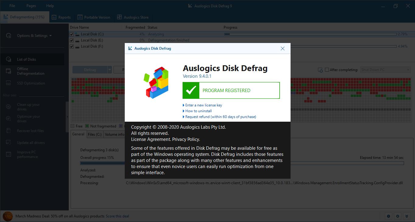 Auslogics Disk Defrag Pro Keygen